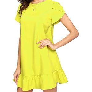 Dresses & Skirts - New round neck, tulip sleeve, shift dress